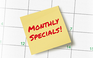 MAU February Monthly Specials 2019