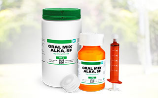 Oral Mix Dry Alka, SF is a uniform powdered blend buffered to an alkaline pH for drugs that require an alkaline medium for stability in aqueous oral vehicles. It is formulated to quickly and easily compound acid-labile APIs such as Omeprazole (PPI)into highly palatable oral suspensions.