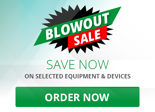 Save now on selected equipment and devices. Take advantage of this limited time offer. Valid until May 31st or while quantities last. Order Now.