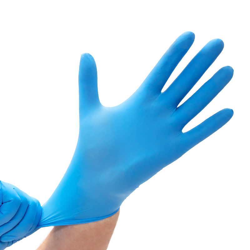 "GLOVES, BLUE NITRILE POWDER-FREE, SAFE-SENSE™ (S - 9"" - 5 mil) (Non-Sterile)"