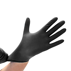 "GLOVES, BLACK NITRILE POWDER-FREE, SAFE-SENSE™ (M - 9""- 5 mil) (Non-Sterile)"