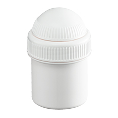 WHITE JAR w/WHITE LID, SAMIX (20 mL)