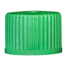 INHALATION VIAL CAP (Green, OD 13 mm, Non-Sterile)