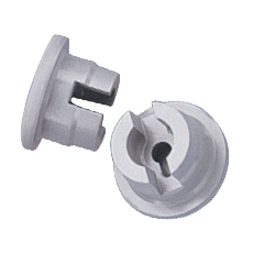 STOPPER w/PRONGS (Gray, 20 mm, 2 Prongs)