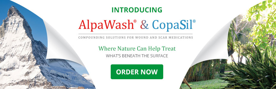 AlpaWash and CopaSil - Compounding Solutions for Wound Care and Scar Treatment Medications